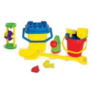 XXL-Sandspielzeug-BURGENEIMER-Sandkasten-Spielzeug-Schaufel-Eimer-Foermchen-11tlg
