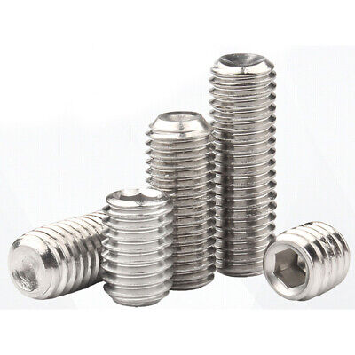 M2 304 Stainless Steel Hex Socket Set Screws With Cup Point Grub Screw DIN916
