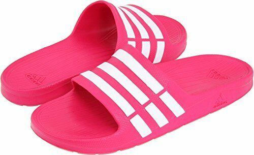 sports shoes 9bc92 a21ea adidas Duramo K5 Girls Youth Size 5 Slides Pink White Sandals for sale  online  eBay