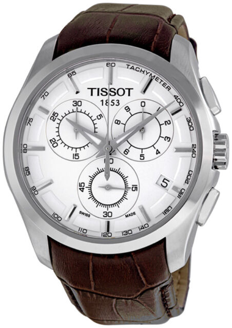 Tissot Couturier Chronograph Sapphire Crystal Mens Watch
