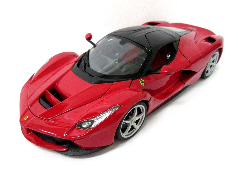 Bburago 1 18 Ferrari LaFerrari firma Diecast Modelo Coche de Carreras rosso Nuevo en Caja