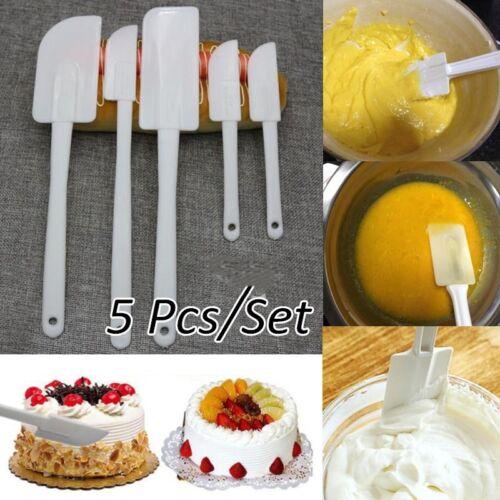 5Pcs Plastic Dough Icing Fondant Scraper Cake Decorating Baking Pastry Tools