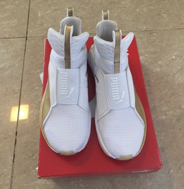 Puma Fierce White Gold Trainers only worn once