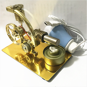 US-Mini-Hot-Air-Stirling-Engine-Motor-Model-Educational-Toy-Kit-With-LED-Light