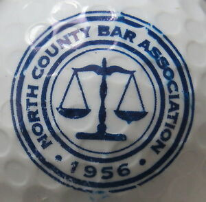 (1) North County Bar Association Logo Balle De Golf-afficher Le Titre D'origine