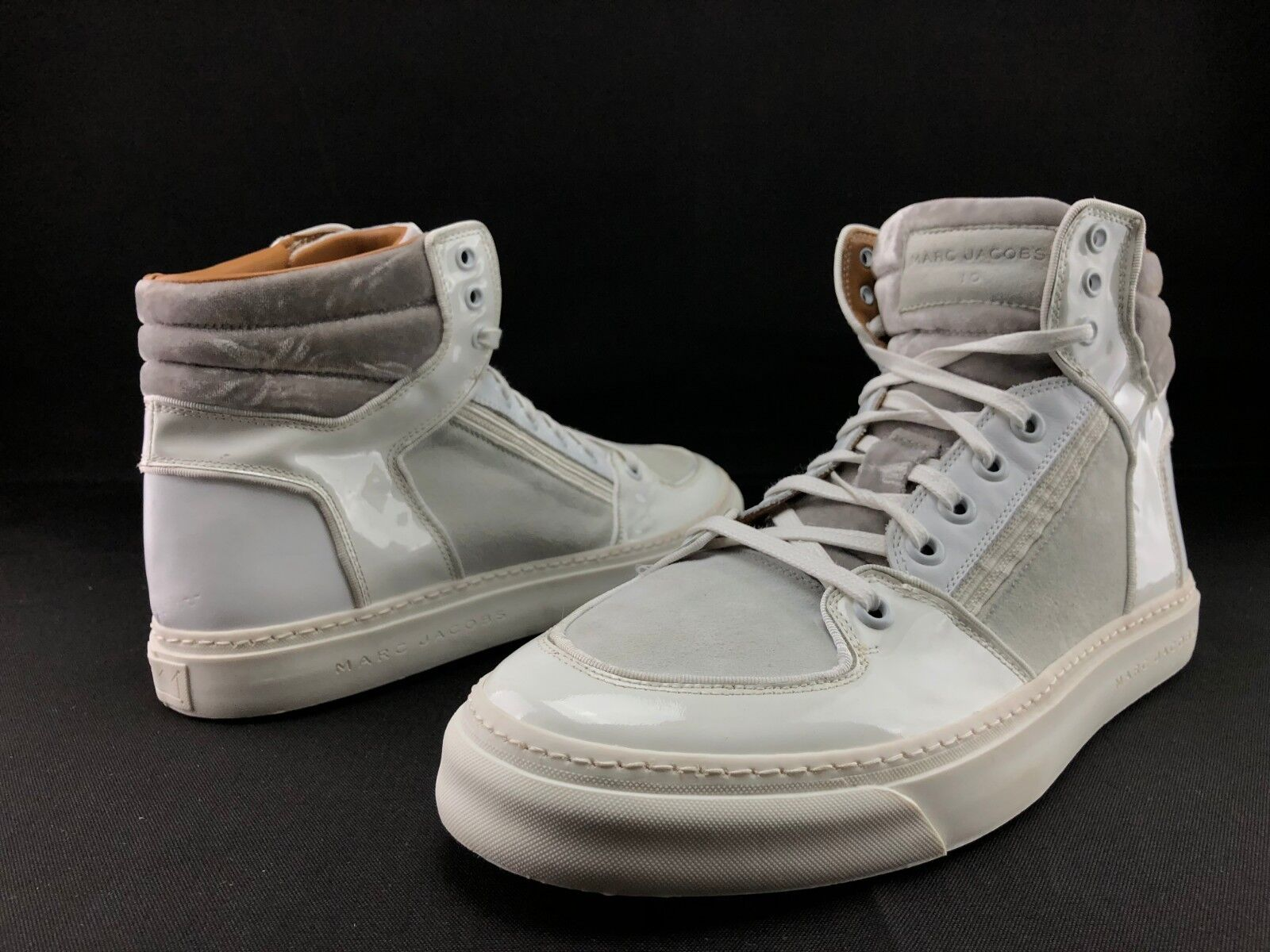 41a856297000 Marc Marc Marc Jacobs Men s Suede Leather Hi Top Fashion Sneakers Shoes US  10 C428 9581ba