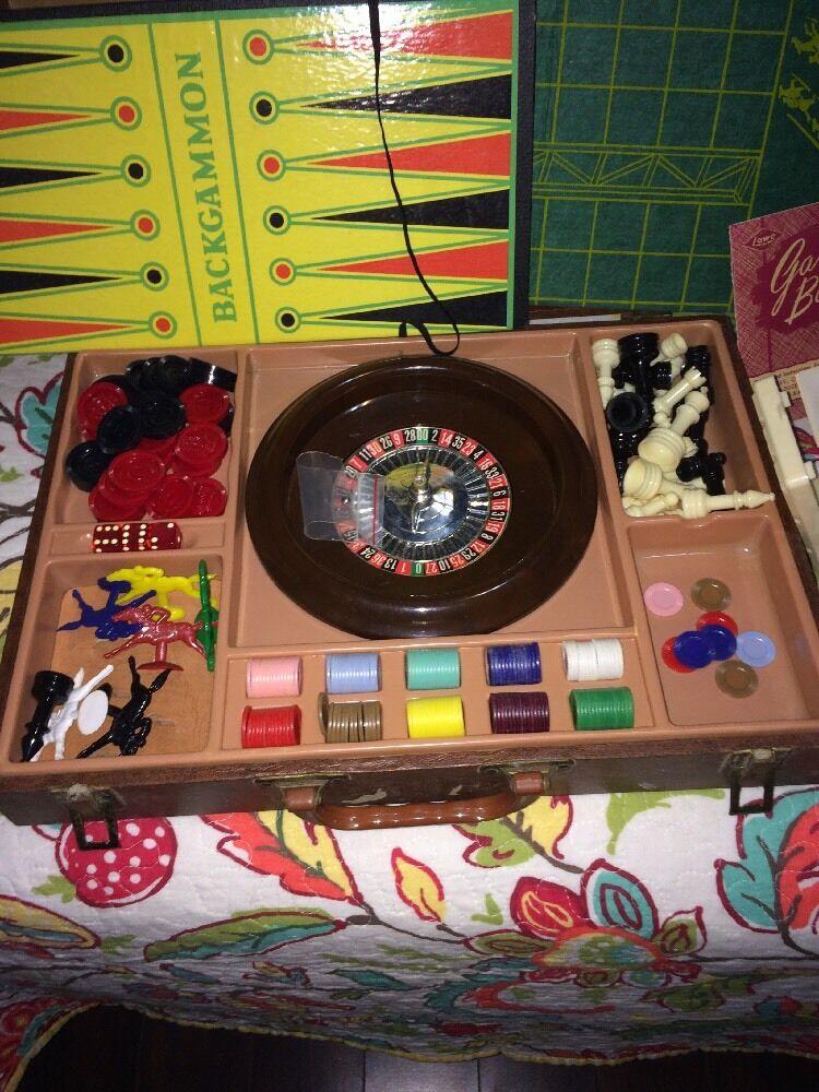Vintage jeu avec roulette Cribbage et plus