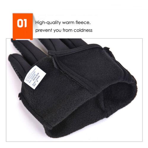 Winter Warm Windproof Waterproof Anti-slip Thermal Outdoor Sport Gloves Zipper