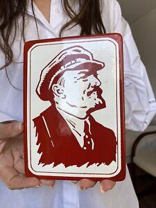 Lenine-Enameled-Plate-USSR