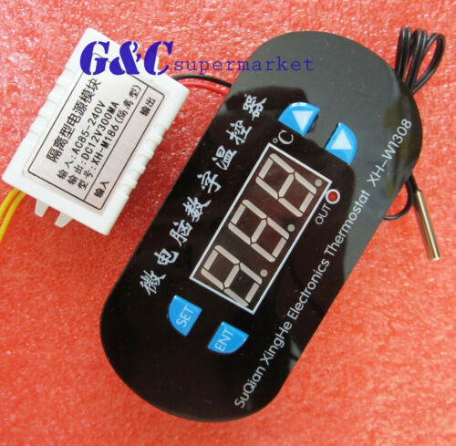 W1308 Temperature Controller Red Display Switch Heating Cooling Control M108
