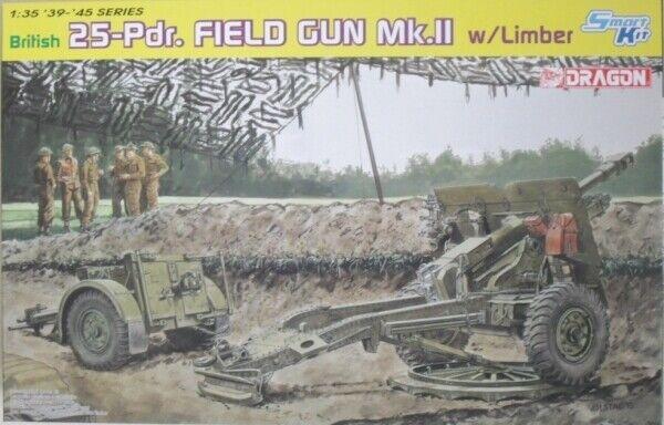 Dragon 1 35 6774 BRITISH 25pdr. FIELD GUN Mk.II w LIMBER