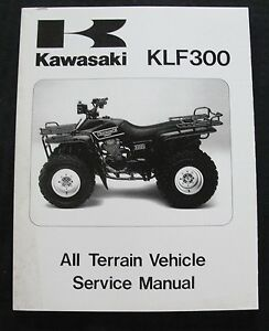 1986 1987 kawasaki 300 klf300 atv all terrain vehicle repair service rh ebay com 1986 Kawasaki Ninja 1986 Kawasaki Voyager