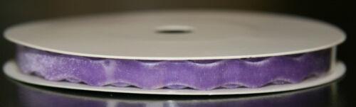 Crear y artesanal de Lujo Terciopelo RIC RAC CINTA 6mm X 2.5m Lila