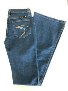 NWT-WOMEN-039-S-FRANKIE-B-Flare-bootcut-blue-denim-jeans-w-embroidered-pocket-2-4-6