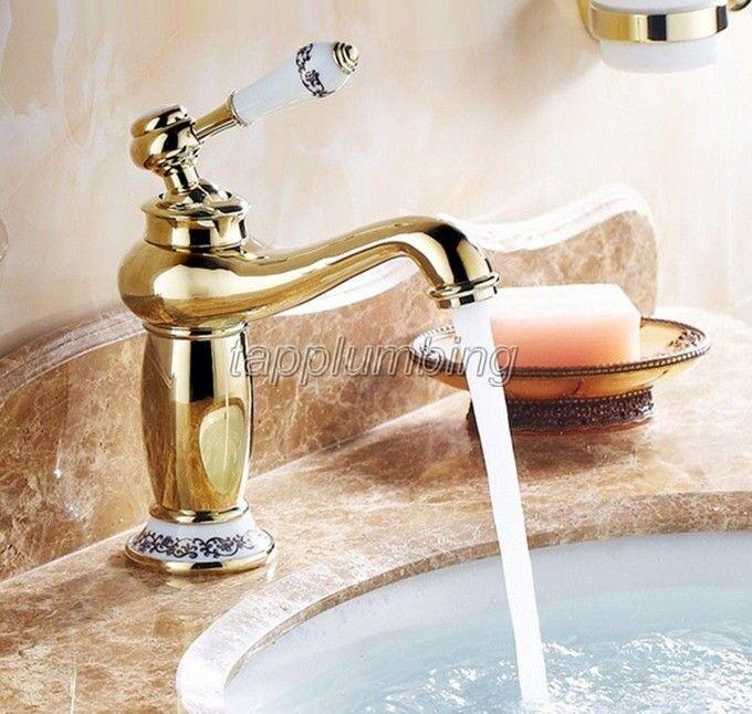 oren Brass pont monté salle de bains robinet de lavabo navire évier robinets