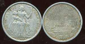 Polynesie Francaise 2 Francs 1965 ( Bis ) Forme éLéGante