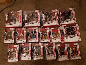 Transformers War For CYBERTRON Netflix Lot 17 Optimus SOUNDWAVE BUMBLEBEE+ NEW!!