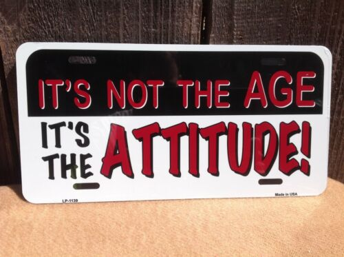 Its Not Age Its Attitude Wholesale Novelty License Plate Bar Wall Decor