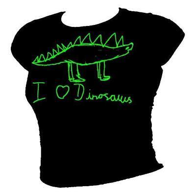 DINOSAUR I love dinosaurs cool /& funky kids design ladies T-shirt all sizes