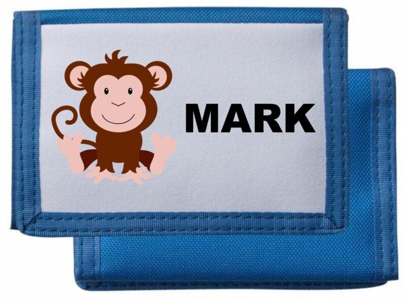 Billetera Monedero Mono Personalizado/* Rosa/azul/negro/rojo * Mayzie Diseños ®-ck/red* Mayzie Designs®