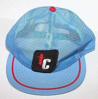 Vintage TC Blue//White//Red//Black men/'s snapback trucker hat cap