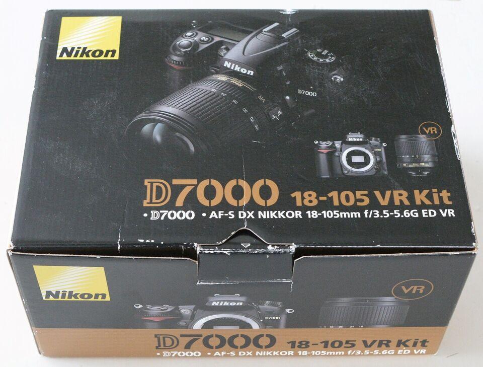 Nikon d7000, spejlrefleks, 16 megapixels