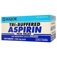 Tri- Buffered Aspirin Tablets 325mg 100ct box