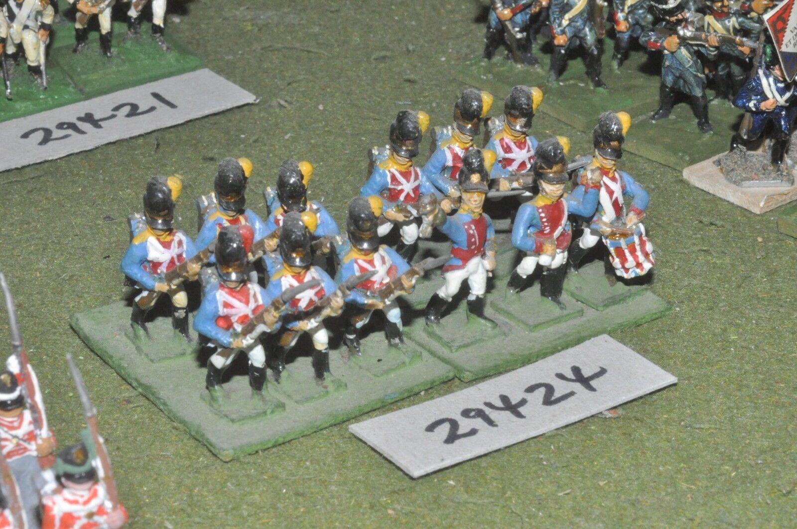 25mm napoleonic   bavarian - line 12 figures - inf (29424)