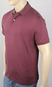 Tommy-Hilfiger-Burgundy-Custom-Fit-Polo-Interlock-Shirt-NWT
