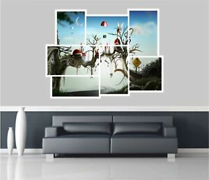 Huge-Collage-View-Fantasy-Drug-Free-Zone-Wall-Stickers-Wallpaper-Mural-695