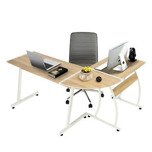 Pleasant Details About Gaming L Shape Desk Office Work Station Study White Computer Laptop Home Dorm Tv Pdpeps Interior Chair Design Pdpepsorg