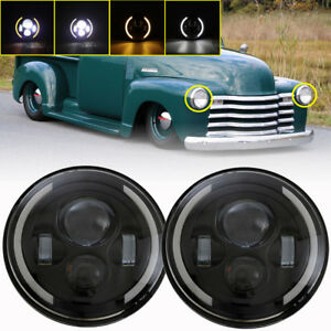 DOT-7-034-Inch-300W-LED-Headlight-HI-LO-Projector-for-Chevy-C10-Camaro-Pickup-Truck