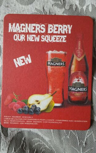 MAGNERS BERRY FRUIT CIDER DRINKS COASTER XMAS B-day Christmas stocking X 2 NEW
