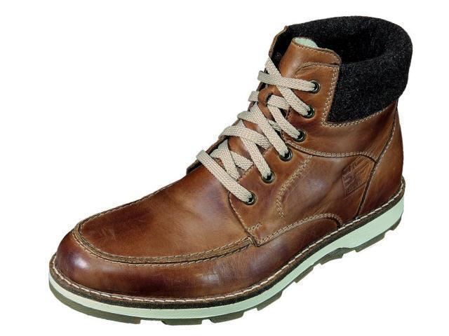 Rieker Herrenschuhe Stiefel Stiefel Leder Schuhe braun Gr. 46 30312-25 Neu6