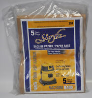Johnny Vac Jv10-jv10w Original Paper Vacuum Bags 5 Pack 251