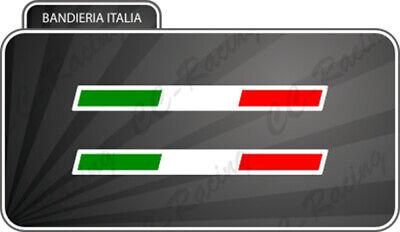 2 Bandierine Italia Per Ducati Aprilia Moto Guzzi Piaggio 5 Cm Bordino Bianco Comodo E Facile Da Indossare