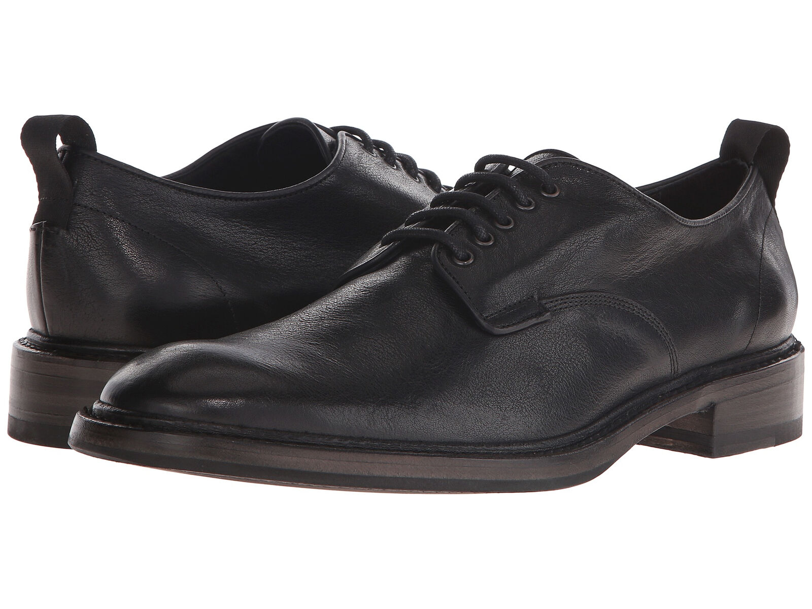 Straccio & Ossa Uomo Nero pelle Spencer Derby Oxford