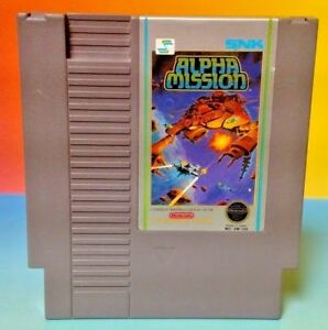 Alpha-Mission-Nintendo-NES-Game-Rare-Tested-Works-Authentic-Original-Shooter