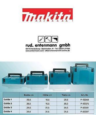 Makita Systemkoffer Makpac Gr. 1 - Gr. 4, komp. mit Festool oder Tanos Systainer
