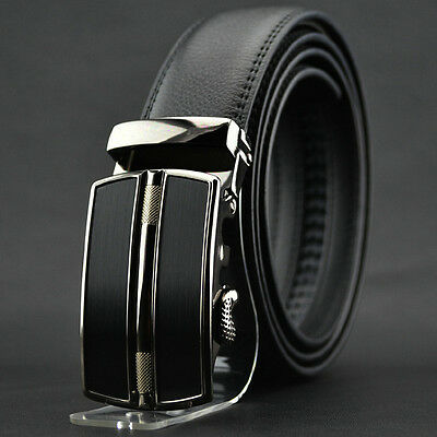 Fashion Men's Automatic buckle Belt Business Genuine Leather Belt For Men Jeans