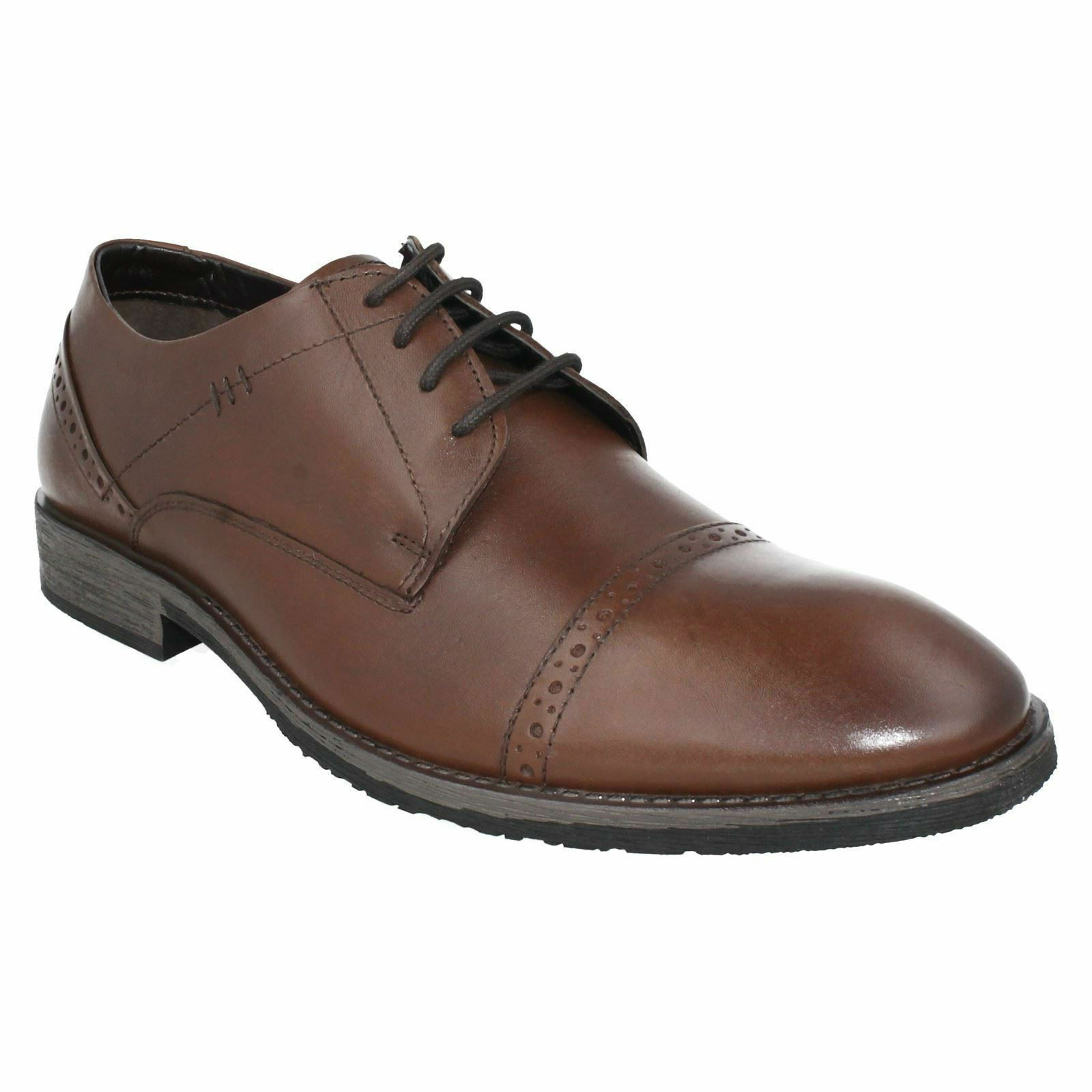 MENS HUSH PUPPIES LACE UP LEATHER braun BROGUE SMART FORMAL schuhe CRAIG LUGANDA