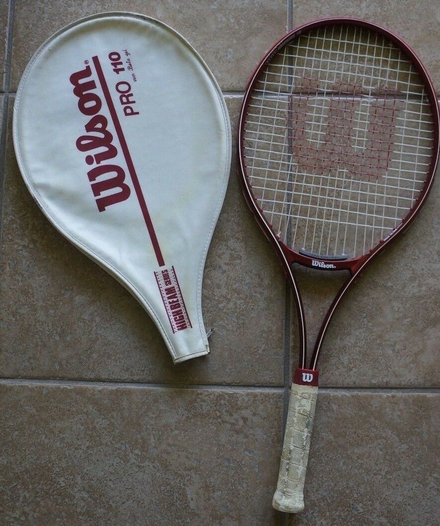 Wilson Pro 110 Aerodynamic High Beam Series Tennis Racquet 4 3 8  w  Cover