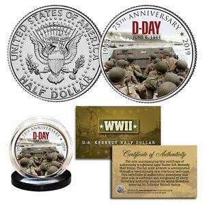 World-War-II-D-DAY-INVASION-75th-Anniversary-1944-2019-JFK-Half-Dollar-Coin