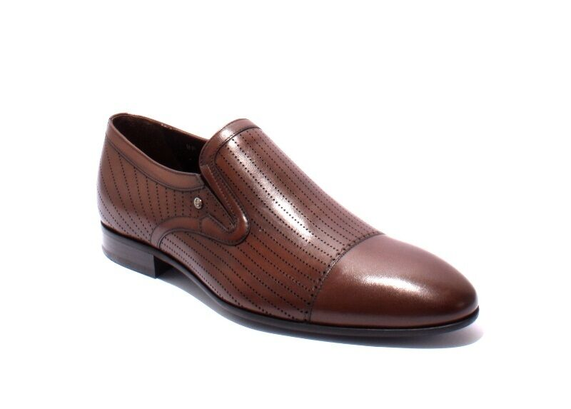 ROBERTO SERPENTINI 20942a Brown Laser Cut Pelle Classic Shoes 45 /   12