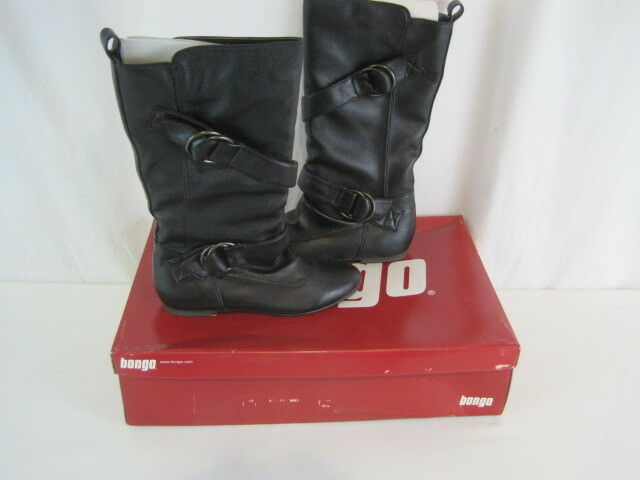 """New Bongo """"Leon"""" Black Boot With Buckles Size 5.5 M MSRP .00 (Y72-1101)"""