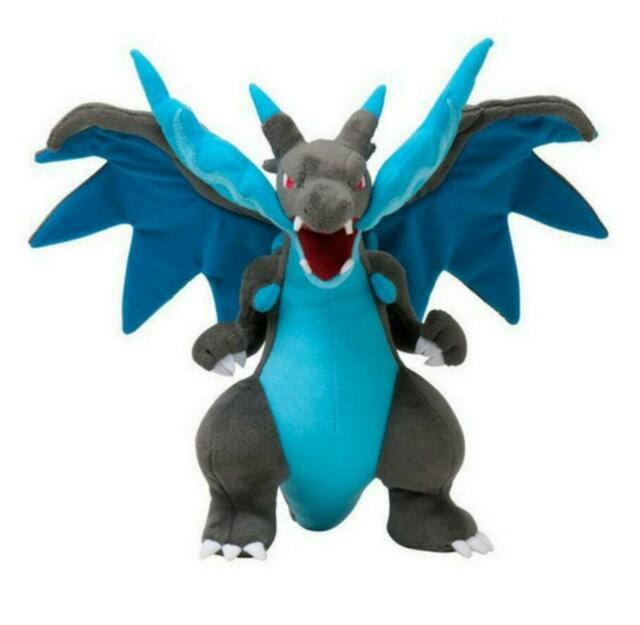 "Plush Soft Toy Stuffed Animal Doll 12/"" NEW Pokemon Charizard Center Mega"