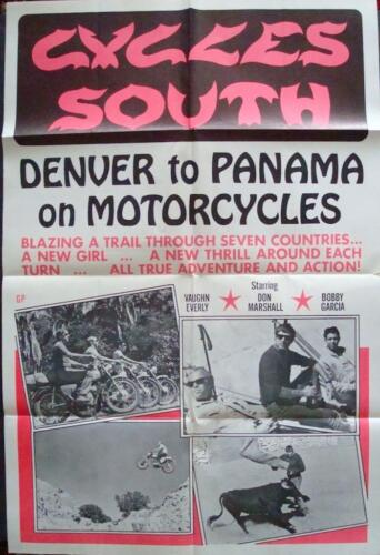 CYCLES SOUTH one sheet movie poster 27x41 BIKERS 1971 NM RARE
