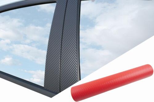 6x PREMIUM A B C Säule Tür Leisten Auto Folie Set Carbon Rot für viele Fahrzeuge
