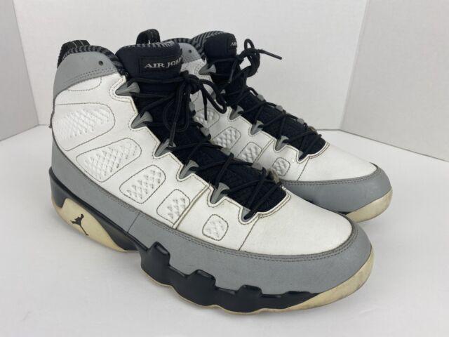 2014 Nike Air Jordan 9 IX Retro Barons Size 11 White Black Wolf Grey 302370-106