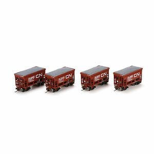 ATHEARN-HO-SCALE-WAGONS-CANADIAN-NATIONAL-24-039-ORE-CAR-X4-ATH87074